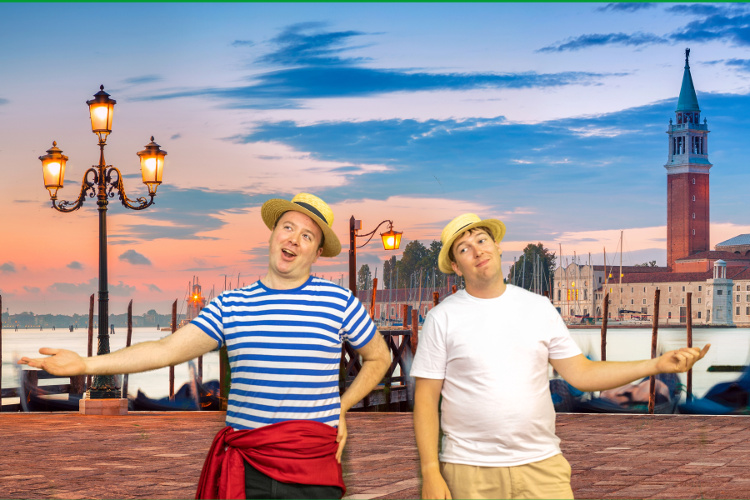 Brothers Guiseppe and Marco, two Venetian Gondoliers